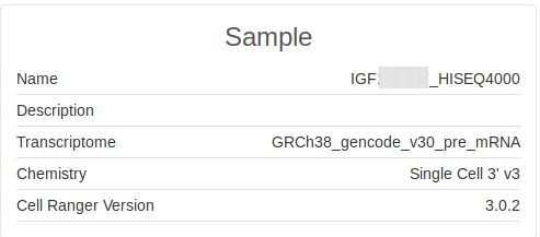 IGF Help Pages - Single Cell Transcriptome